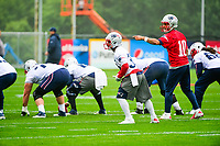 June 6, 2017: New England Patriots quarterback Jimmy Garoppolo (10) signals at the line at the New England Patriots mini camp held on the practice field at Gillette Stadium, in Foxborough, Massachusetts. Eric Canha/CSM