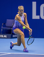 Rotterdam, Netherlands, December 15, 2016, Topsportcentrum, Lotto NK Tennis,  Nina Kuijer (NED) throws her racket<br /> Photo: Tennisimages/Henk Koster