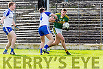 Kerrys James O'Donoghue goes around Ryan Wylie Monaghan during their NFL clash in Fitzgerald Stadium on Sunday