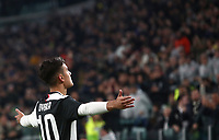 Calcio, Serie A: Juventus - Milan, Turin, Allianz Stadium, November 10, 2019.<br /> Juventus' Paulo Dybala celebrates after scoring during the Italian Serie A football match between Juventus and Milan at the Allianz stadium in Turin, November 10, 2019.<br /> UPDATE IMAGES PRESS/Isabella Bonotto