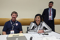 INDIANAPOLIS, IN - January 18, 2013: Washington Spirit technical staff. The National Women's Soccer League held its college draft at the Indiana Convention Center in Indianapolis, Indiana during the NSCAA Annual Convention.