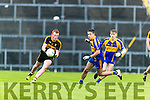 Johnny Buckley Dr Crokes in action against Adrian Spillane Kenmare District in the Senior County Football Championship final at Fitzgerald Stadium on Sunday.