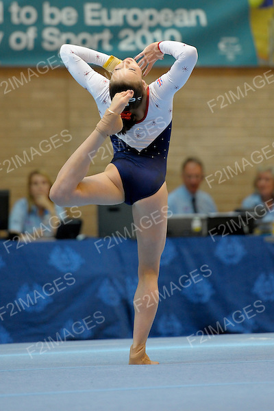 28.08.2010  Womens Gymnastics Great Britain v Switzerland Gateshead.Rebecca Downie in action for GB.Hannah Whelan in action for GB..Photos by Alan Edwards