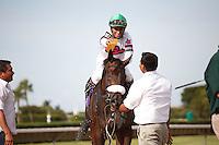 Gantry wins the G2 Smile Sprint Handicap at Calder Race Course, Miami Gardens Florida. 07-07-2012.  Arron Haggart/Eclipse Sportswire