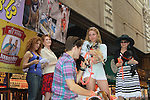 """Kerry Butler, Aaron Tveit, Linda Hart, Bernadette Peters, Mary Tyler Moore - Broadway Barks Lucky 13th Annual Adopt-a-thon - A """"Pawpular"""" Star-studded dog and cat adopt-a-thon on July 9, 2011 in Shubert Alley, New York City, New York with Bernadette Peters and Mary Tyler Moore as hosts.  (Photo by Sue Coflin/Max Photos)"""