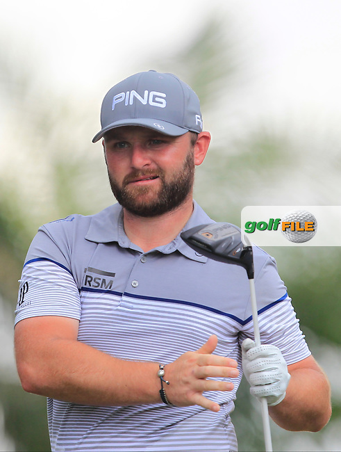 Andy Sullivan (ENG) in action on the 5th tee during Round 1 of the Maybank Championship at the Saujana Golf and Country Club in Kuala Lumpur on Thursday 1st February 2018.<br /> Picture:  Thos Caffrey / www.golffile.ie<br /> <br /> All photo usage must carry mandatory copyright credit (© Golffile | Thos Caffrey)