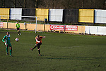 First-half action as Prescot Cables (in orange) take on Brighouse Town in a Northern Premier League division one north fixture at Valerie Park. Founded in 1884, the 'Cables' in their name came from the largest local employer, British Insulated Cables and they have played in their current ground, also known as Hope Street, since 1906. Prescott won the match 2-1 watched by a crowd of 189.