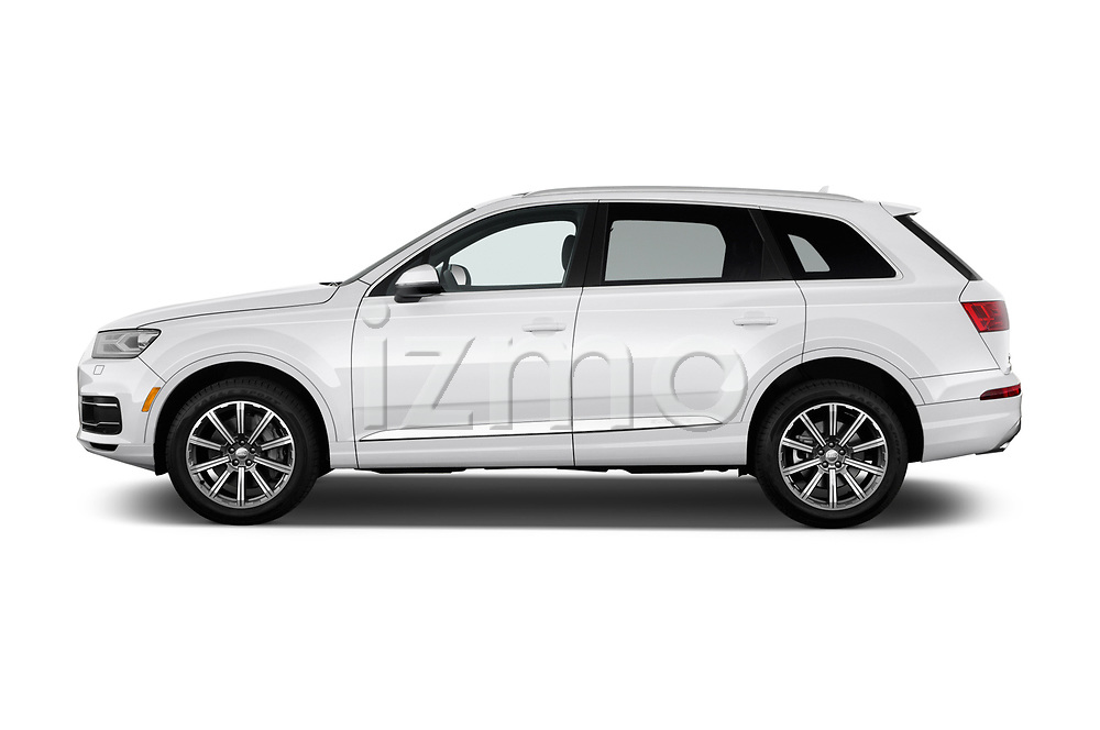 Car driver side profile view of a 2017 Audi Q7 Premium  5 Door SUV