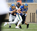 BROOKINGS, SD - NOVEMBER 16: Jaxon Janke #10 of the South Dakota State Jackrabbits scampers past the defense into the end zone against the Northern Iowa Panthers during their game Saturday afternoon at Dana J. Dykhouse Stadium in Brookings, SD. (Photo by Dave Eggen/Inertia)
