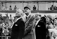 Three stars of Expo 67 were Governor-General Roland Michener, French President Charles de Gaulle, ('Vive le Quebec Libre'), and Quebec Premier  Daniel Johnson.<br /> <br /> Credit : Toronto Star Photograph Archive - Courtesy of Toronto Public Library