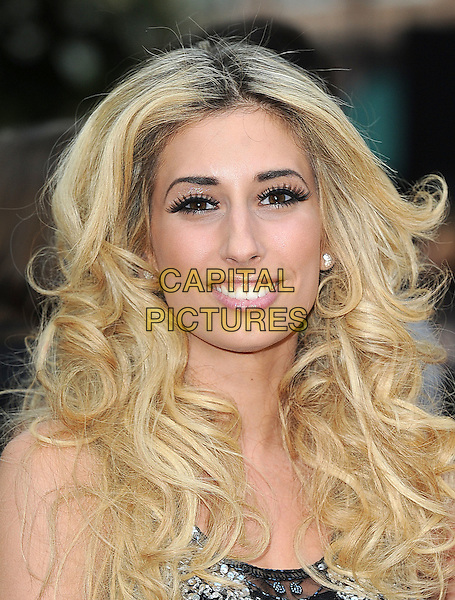 STACEY SOLOMON.Arrivals to the 'Sex And The City 2' European Premiere at the Odeon, Leicester Square, London, England..May 27th, 2010 .headshot portrait white cream black silver beaded smiling sequins sequined.CAP/BEL.©Tom Belcher/Capital Pictures.