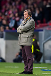 Head coach Yuri Semin (Yuri Syomin) of FC Lokomotiv Moscow looks on during the UEFA Europa League 2017-18 Round of 16 (1st leg) match between Atletico de Madrid and FC Lokomotiv Moscow at Wanda Metropolitano  on March 08 2018 in Madrid, Spain. Photo by Diego Souto / Power Sport Images