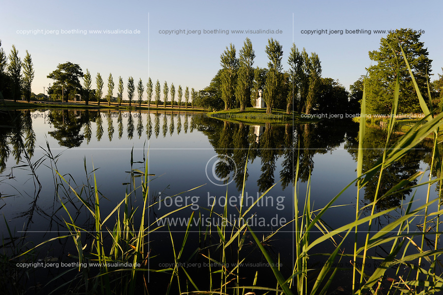 "Deutschland Kulturstiftung und Gartenreich Dessau-Woerlitz in Sachsen-Anhalt, Rousseau Insel | .Europe Germany GER landscape park Dessau Woerlitz | [ copyright (c) Joerg Boethling / agenda , Veroeffentlichung nur gegen Honorar und Belegexemplar an / publication only with royalties and copy to:  agenda PG   Rothestr. 66   Germany D-22765 Hamburg   ph. ++49 40 391 907 14   e-mail: boethling@agenda-fototext.de   www.agenda-fototext.de   Bank: Hamburger Sparkasse  BLZ 200 505 50  Kto. 1281 120 178   IBAN: DE96 2005 0550 1281 1201 78   BIC: ""HASPDEHH"" ,  WEITERE MOTIVE ZU DIESEM THEMA SIND VORHANDEN!! MORE PICTURES ON THIS SUBJECT AVAILABLE!! ] [#0,26,121#]"