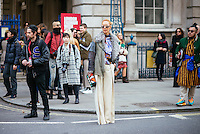Elina Halimi at London Fashion Week (Photo by Hunter Abrams/Guest of a Guest)