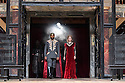 """Shakespeare's Globe presents """"Macbeth"""", by William Shakespeare, directed by Iqbal Khan.  Picture shows: Ray Fearon Macbeth), Tara Fitzgerald (Lady Macbeth)"""
