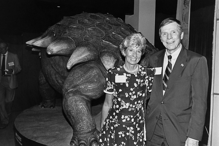 Rep. Andy Ireland, R-Fla. with wife Nancy during GOP Convention at Natural History Museum on Aug. 18, 1992. (Photo by Laura Patterson/CQ Roll Call)