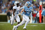 19 November 2016: UNC's Ryan Switzer (3) outruns The Citadel's Ben Roberts (11) for a 76 yard touchdown reception. The University of North Carolina Tar Heels hosted the The Citadel, The Military College of South Carolina Bulldogs at Kenan Memorial Stadium in Chapel Hill, North Carolina in a 2016 NCAA Division I College Football game.