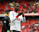 Paul Pogba of Manchester United during the English Premier League match at the Old Trafford Stadium, Manchester. Picture date: May 21st 2017. Pic credit should read: Simon Bellis/Sportimage