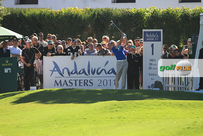 Ross Fisher (ENG) during the 2nd day at the  Andalucía Masters at Club de Golf Valderrama, Sotogrande, Spain. .Picture Fran Caffrey www.golffile.ie