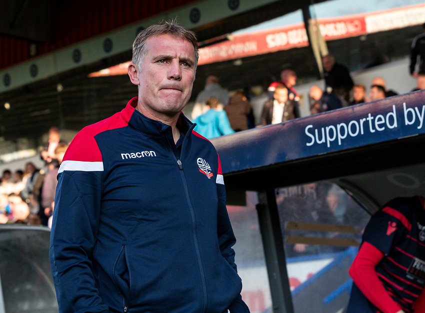 Bolton Wanderers' manager Phil Parkinson <br /> <br /> Photographer Andrew Kearns/CameraSport<br /> <br /> The Carabao Cup First Round - Rochdale v Bolton Wanderers - Tuesday 13th August 2019 - Spotland Stadium - Rochdale<br />  <br /> World Copyright © 2019 CameraSport. All rights reserved. 43 Linden Ave. Countesthorpe. Leicester. England. LE8 5PG - Tel: +44 (0) 116 277 4147 - admin@camerasport.com - www.camerasport.com