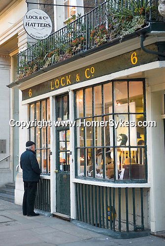 Lock and Co Hatters. 6 St James Street, London W1