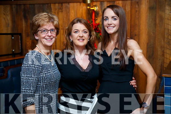 Bernie Mannix, Helen Enright and Michelle Culloty, enjoying Women's Christmas at the Ashe Hotel, Tralee on Saturday night last.
