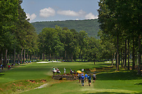 Inbee Park (KOR),In Gee Chun (KOR), and Moriya Jutanugarn (THA) head down 2 during round 1 of the U.S. Women's Open Championship, Shoal Creek Country Club, at Birmingham, Alabama, USA. 5/31/2018.<br /> Picture: Golffile | Ken Murray<br /> <br /> All photo usage must carry mandatory copyright credit (&copy; Golffile | Ken Murray)