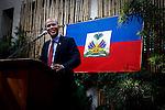 Candidate to the presidency in Haiti elections /Rueda de prensa del cantante y candidato a la presidencia de Haiti, Michel Martelly el dia antes de los resultados de las elecciones. Photo by Jose L. Cuesta