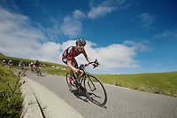 Tejay Van Garderen (USA/BMC) descending the Port de Balès<br /> <br /> 2014 Tour de France<br /> stage 16: Carcassonne - Bagnères-de-Luchon (237km)