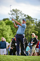 Phil Mickelson (USA) watches his approach shot on 10 during round 1 of the Shell Houston Open, Golf Club of Houston, Houston, Texas, USA. 3/30/2017.<br /> Picture: Golffile | Ken Murray<br /> <br /> <br /> All photo usage must carry mandatory copyright credit (&copy; Golffile | Ken Murray)