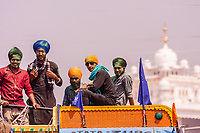 Asia,India,Punjab, Anandpur Sahib, sikh pilgrims to to the Holla Mohalla annual festival