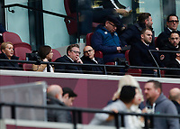23rd November 2019; London Stadium, London, England; English Premier League Football, West Ham United versus Tottenham Hotspur; Daniel Levy in the directors box as Lucas Moura of Tottenham Hotspur celebrates scoring his sides 2nd goal in the 41st minute with Harry Kane of Tottenham Hotspur to make it 0-2 - Strictly Editorial Use Only. No use with unauthorized audio, video, data, fixture lists, club/league logos or 'live' services. Online in-match use limited to 120 images, no video emulation. No use in betting, games or single club/league/player publications