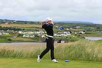 Conor Purcell (Portmarnock) on the 9th tee during Matchplay Round 1 of the South of Ireland Amateur Open Championship at LaHinch Golf Club on Friday 22nd July 2016.<br /> Picture:  Golffile | Thos Caffrey<br /> <br /> All photos usage must carry mandatory copyright credit   (© Golffile | Thos Caffrey)