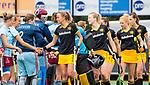 DEN BOSCH - line up Den Bosch voor  de finale van de EuroHockey Club Cup, Den Bosch-UHC Hamburg (2-1).  Maartje Paumen (Den Bosch) , Josine Koning (Den Bosch) , Ireen van den Assem (Den Bosch) .COPYRIGHT KOEN SUYK