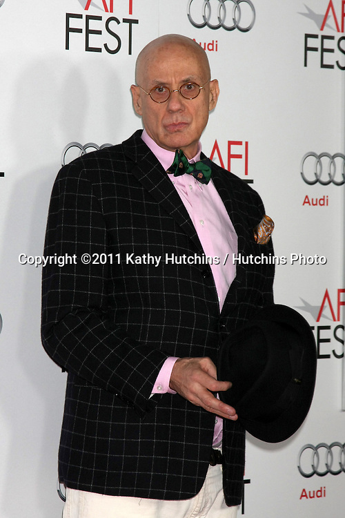 """LOS ANGELES - NOV 5:  James Ellroy arrives at the AFI FEST 2011 Gala Screening of """"Rampart"""" at Grauman's Chinese Theater on November 5, 2011 in Los Angeles, CA"""