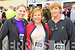 Niamh Fitzgerald, Breda O'Sullivan and Sadie Curran (Cahersiveen) pictured at the Carers 10k run on Sunday.