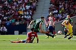 Atletico de Madrid's Diego Godin and SD Eibar's Sergi Enrich during La Liga match. September 15, 2018. (ALTERPHOTOS/A. Perez Meca)