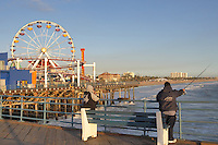 Fisherman on Santa Monica Pier. California