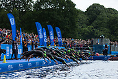 June 11th 2017, Leeds, Yorkshire, England; ITU World Triathlon Leeds 2017; The start of the womens race, swimming stage