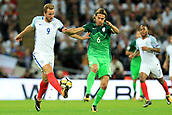 5th October 2017, Wembley Stadium, London, England; FIFA World Cup Qualification, England versus Slovenia; Harry Kane, the England captain  battles with Rene Krhin of Slovenia