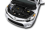 Car Stock 2016 KIA Forte-Koup EX 2 Door Coupe Engine  high angle detail view