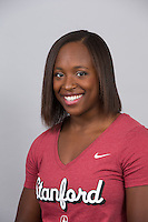 Stanford, CA - October 9, 2015: Women\'s Gymnastics portraits and team photos.
