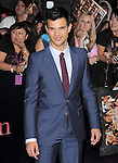 Taylor Lautner  attends The Los Angeles premiere of Summit Entertainment's THE TWILIGHT SAGA: BREAKING DAWN PART 1 HELD AT Nokia Theatre at L.A. Live in Los Angeles, California on November 14,2011                                                                               © 2010 DVS / Hollywood Press Agency