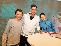 13-02-13, Tennis, Rotterdam, ABNAMROWTT, Signeersessie Jesse Huta Galung