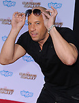Vin Diesel attends The Marvel Studios World Premiere GUARDIANS OF THE GALAXY held at The Dolby Theatre in Hollywood, California on July 21,2014                                                                               © 2014Hollywood Press Agency
