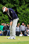 Raphael Jacquelin (FRA) takes his putt on the 1st green during the Final Day of the BMW PGA Championship Championship at, Wentworth Club, Surrey, England, 29th May 2011. (Photo Eoin Clarke/Golffile 2011)