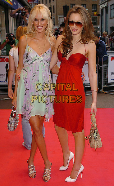 "KIMBERLEY STEWART & CAMILLA AL FAYED.""The Wedding Crashers"" UK Film Premiere,.Odeon West End Cinema, London, July 4th 2005..full length mum red dress silver beaded chloe bag Louis Vuitton gold bag aviator sunglasses tinted.Ref: CAN.www.capitalpictures.com.sales@capitalpictures.com.©Can Nguyen/Capital Pictures"