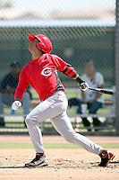 Efrain Contreras, Cincinnati Reds 2010 minor league spring training..Photo by:  Bill Mitchell/Four Seam Images.