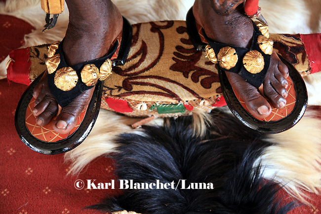 The feet of the Chief of Bechem in the Brong Ahafo region are covered with gold and jewels