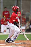 Demi Orimoloye, #59 of Fletcher Meadows High School, Ontario, Canada playing for DBacks Team BC the during the WWBA World Championship 2013 at the Roger Dean Complex on October 24, 2013 in Jupiter, Florida. (Stacy Jo Grant/Four Seam Images)